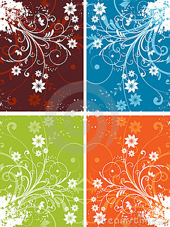 Free Floral Grunge Backgrounds Stock Image - 5063171