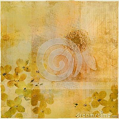 Floral grunge collage