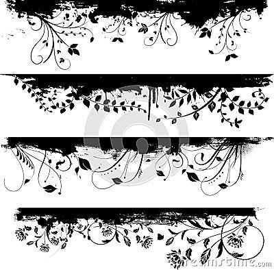 Free Floral Grunge Design Elements Stock Images - 9295114