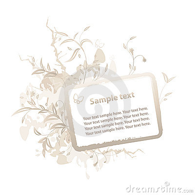 Free Floral Grunge Frame For Text Stock Photo - 9094990