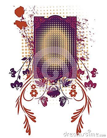 Floral Grunge Frame Series