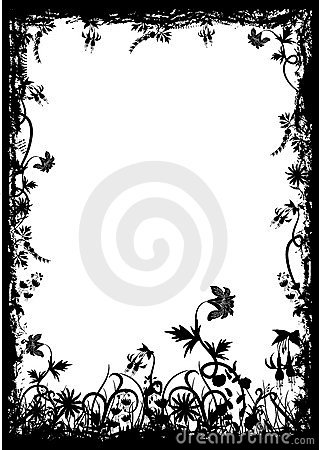 Free Floral Grunge Frame, Vector Royalty Free Stock Photos - 1792578