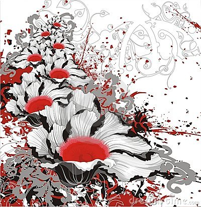 Free Floral Grunge Vector Bloody Background Royalty Free Stock Photos - 1167788
