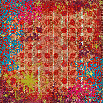 Free Floral Gypsy Beachy Scrapbook Background Stock Image - 2087341