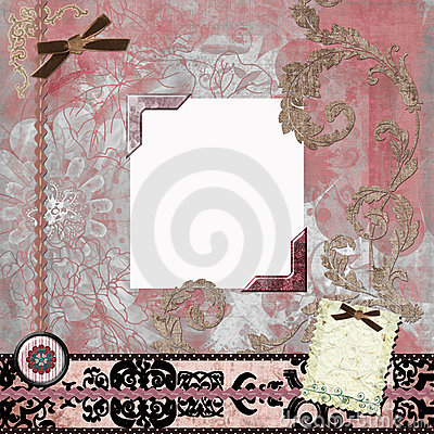 Floral Gypsy Bohemian Tapestry Scrapbook Background