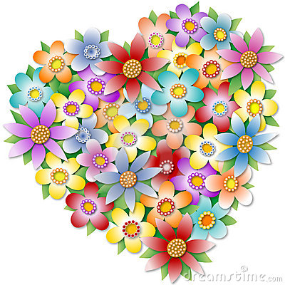 Free Floral Heart Royalty Free Stock Photos - 2771308