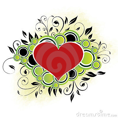 Floral Heart - Green