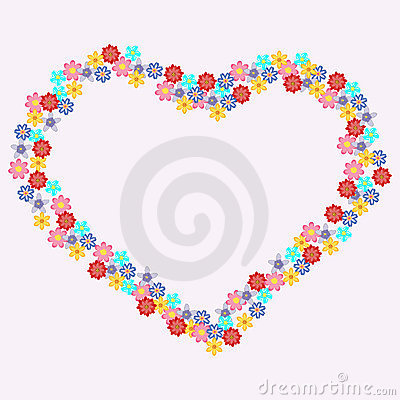 Floral heart-shape