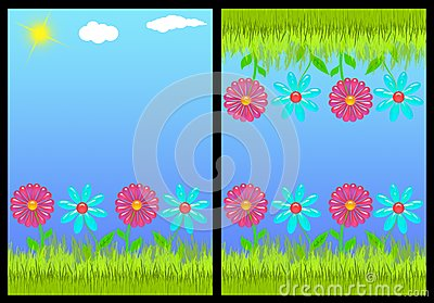 Floral invitation card front and back (01)