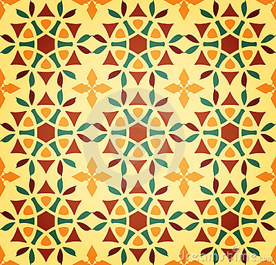 Floral Islamic Seamless Pattern