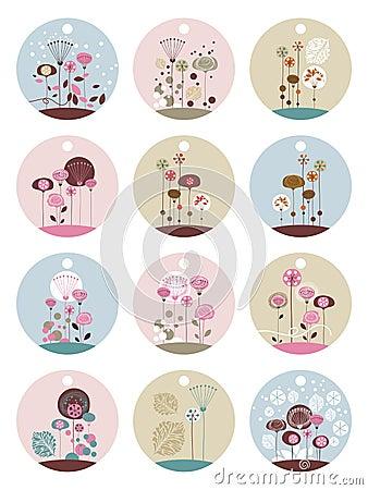 Floral Labels Set