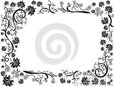 Floral leafs design frame