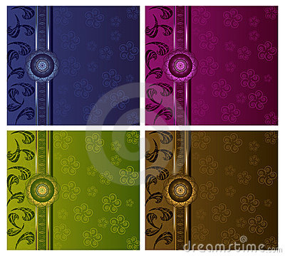 Free Floral Luxury Backgrounds Set Royalty Free Stock Images - 15174159