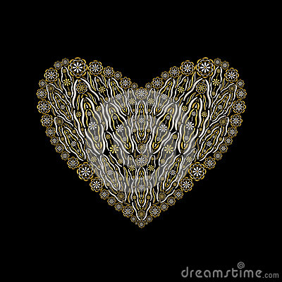 Floral luxury heart shape jewelry ornament design