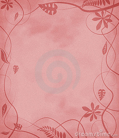 Floral mottled paper red