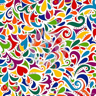 Free Floral Multicolored Mosaic Leaf Pattern. Royalty Free Stock Photo - 40229175