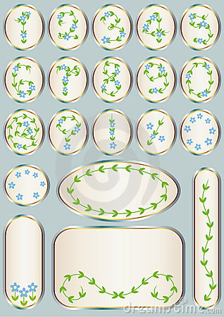 Floral numbers and labels set