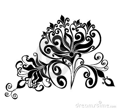 Floral ornament, Element for design, vector