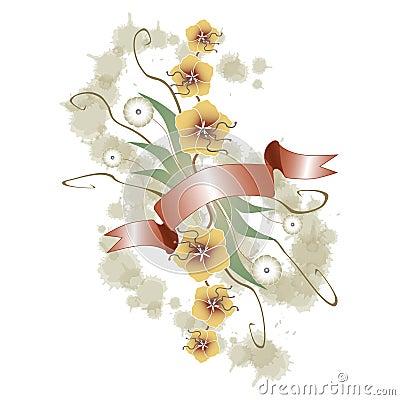 Floral ornament grunge