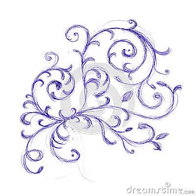 Floral ornament sketch