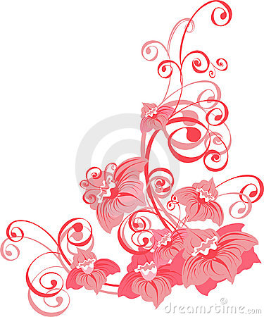 Floral ornament. Vector illustration