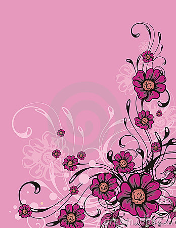 Floral ornamental background