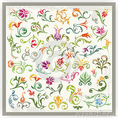 Floral Ornamental Designs Set