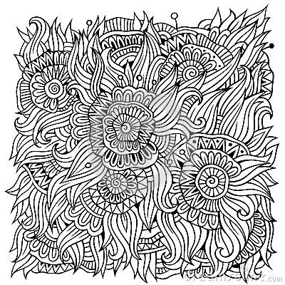 Free Floral Ornamental Doodles Vector Background Stock Photos - 48218483