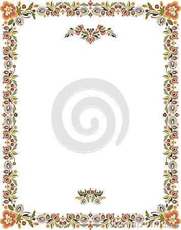 Floral Ornamental Frame in Vintage Style