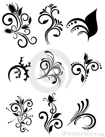 Free Floral Ornaments Collection Stock Photography - 12967912
