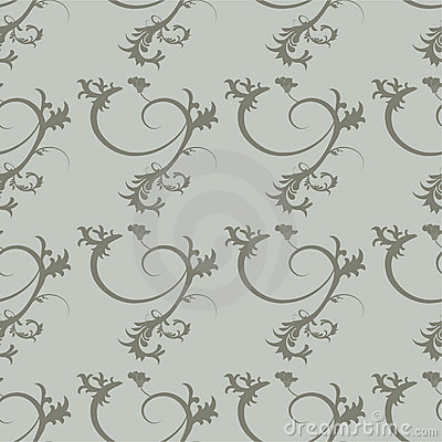 Floral ornaments pattern