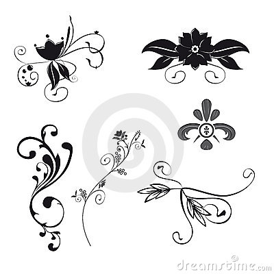 Floral Ornaments (Vector)