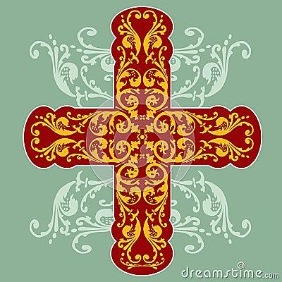 Floral Ornate Cross