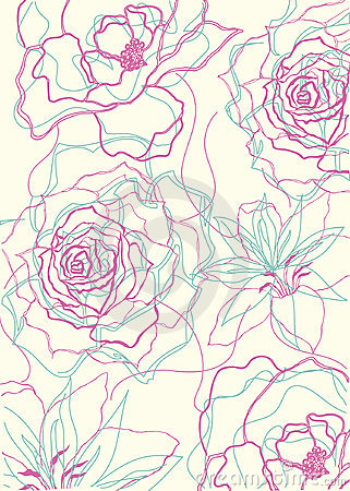 Floral outlines pattern