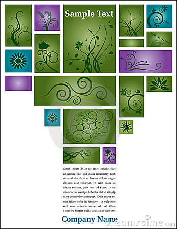 Floral page with text