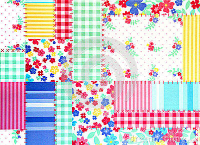 Floral patchwork background