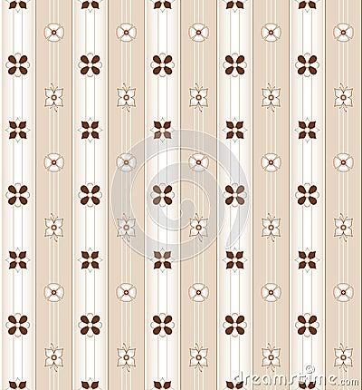 Floral pattern in brown tones