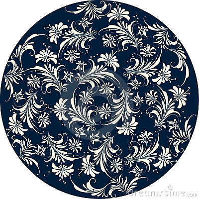 Free Floral Pattern Circle Stock Image - 2637201
