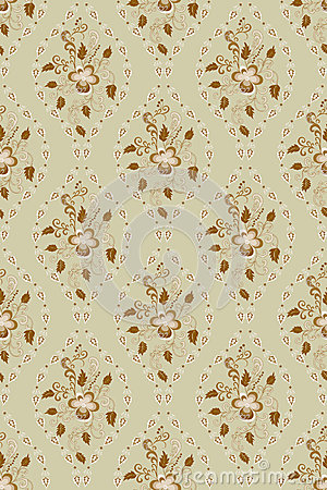 Floral pattern in deciduous ovals