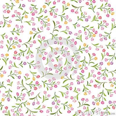 Free Floral  Pattern. Flower Seamless Background. Flourish Ornamental Stock Image - 83777281