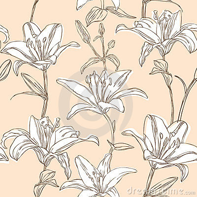 Floral pattern with lily