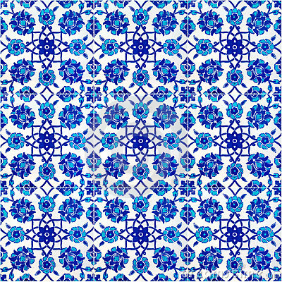 Free Floral Pattern On Old Turkish Tiles, Istanbul Royalty Free Stock Image - 4692676