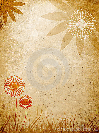 Floral pattern over wall