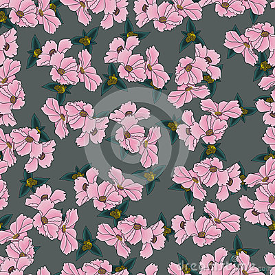 Free Floral Pattern Seamless Background Stock Photography - 42342072