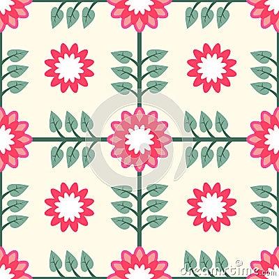 Floral Pattern Seamless Tile