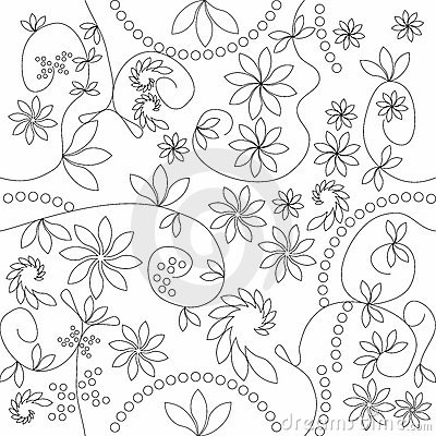 Free Floral Pattern That Matches From All Sides Stock Image - 121671