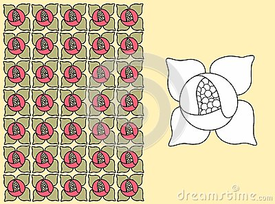 A floral pattern - water lily