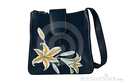 A floral pattern women hand bag