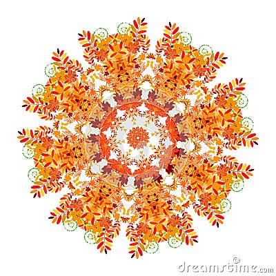 Floral pattern for your design, autumn concept