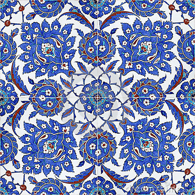 Free Floral Patterns On Ottoman Tiles, Istanbul, Turkey Royalty Free Stock Images - 4571489